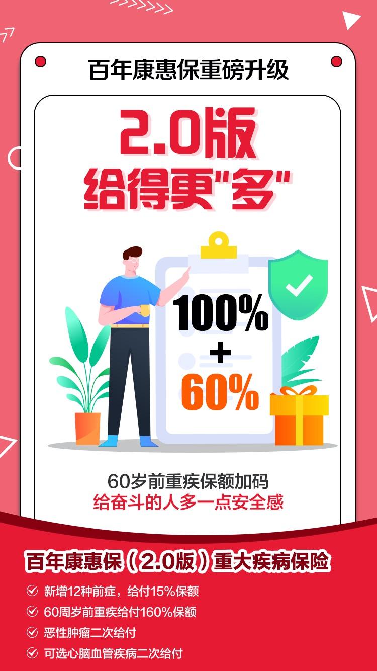 百年康惠保2.0上线啦,税后佣金 83%,需要推广的注册自取